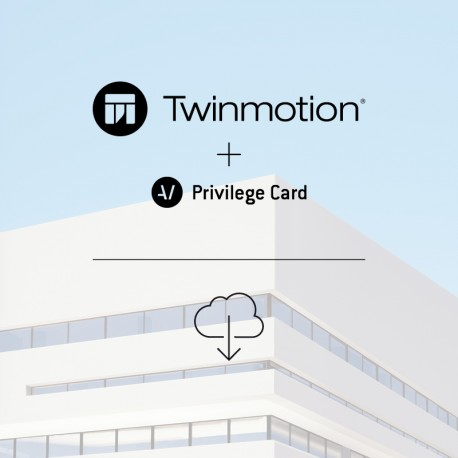 Twinmotion 2019 full single license + Privilege Card for 2 years