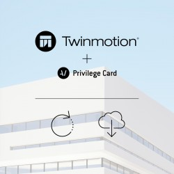 Twinmotion 2019 single license upgrade from Twinmotion Pro 2016 or older + Privilege Card for 2 years -- per license