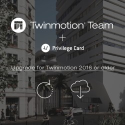 Twinmotion 2019 TEAM upgrade from Twinmotion TEAM 2016 or older + TEAM Privilege Card for 2 years -- per network seat