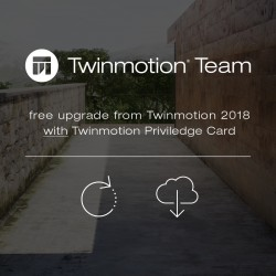 Twinmotion Team 2019 free upgrade for Twinmotion Team Privilege Card network license subscription
