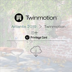 Twinmotion 2019 migration from Artlantis 2019 single license + Privilege Card for 2 years