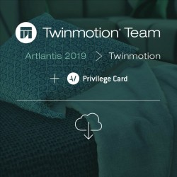 Twinmotion 2019 TEAM migration from Artlantis 2019 key-server or single + TEAM Privilege Card for 2 years -- per network seat